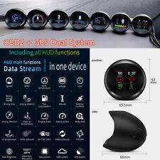 HUD Head-Up Digital Multi Display Gauge Car OBD2+GPS Data Scanner Alarm System