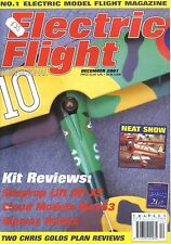 ELECTRIC FLIGHT MAGAZINE 2001 DEC AMIOT 143M, RIPMAX ZEPHYR, SIMPROP LIFT OFF XS