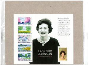 US Stamp Sheet 2012 Lady Bird Johnson #4716 Mint Condition !
