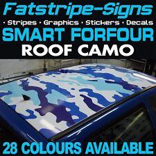 SMART Auto Forfour Camo Tetto grafica Adesivi Strisce Decalcomanie Brabus 1.0 1.3 1.5