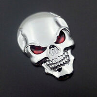 3D Metal Skull Bone Auto Car Sticker Decor For Auto Emblem Badge Silver Decal