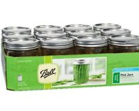 Ball Mason Wide Mouth Pint Canning Jars, New,16 oz, 1 case of 12 jars