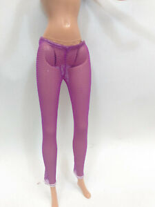 Clothes for Barbie Dolls Purple Pantyhose Stockings NO feet #1150
