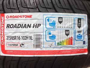 4 X 215/65 16 ROADSTONE NEXEN RODIAN MID RANGE 21565R16 M+S XL TYRES ( B ) WET