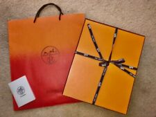 Authentic Hermes Orange Box for Small to Medium Bag 11x14x5 + Orange to red Bag
