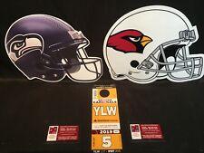 Arizona Cardinals vs Seattle Seahawks 9/29 Yellow YLW Lot Parking Pass Tickets