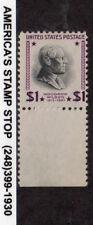 1951 US SC 832b Woodrow Wilson, $1 - USIR Paper Watermark Error - MNH Mint