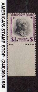 1951 US SC 832b Woodrow Wilson, $1 - USIR Paper Watermark Error - MNH Mint Efo