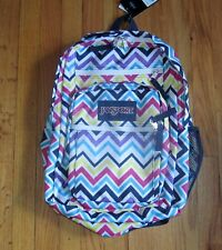 Jansport Big Student Multi-Color Chevron Backpack NWT