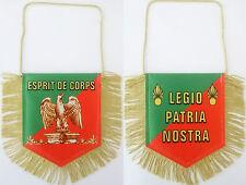 Fanion 13 x 13 cm LÉGION ÉTRANGÈRE + logos ESPRIT DE CORPS & LEGIO PATRIA NOSTRA