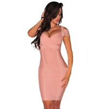 House Of Fox Couture nude galaxy bandage dress of boutique cb M U.K. 10 / US 6