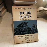 doctor faustus critical essays pb willard farnham pb spectrum marlowe book rare!