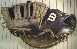 Wilson A2K 2802 top line 1st basemans mitt used black & gray LH throw from 2014