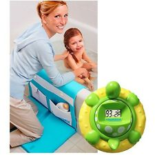 Aqua Bath Baby Thermometer Green and easy Kneeler Comfortable Safe Reliable Blue