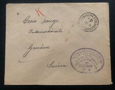 1941 France Concentration Internment Camp de Gurs prisoner Cover to RedCross B