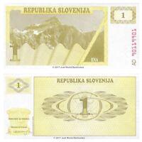 Slovenia 1 Tolar 1990 P-1 Banknotes UNC