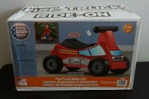 American Plastic Toys Fire Truck Ride-On Kids' Bikes Riding & Push - New