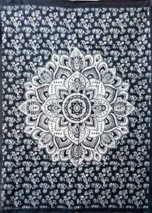 Tapestry Ombre Flower Mandala Design Tapestry Small Cotton Fabric Wall Hanging