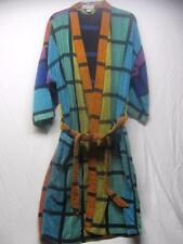 Vtg 1990's CHRISTIAN DIOR Geometric Terry Cloth Robe Unisex One Sz S M L RAINBOW