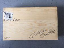 OpusOne - 2007 wooden wine box holds 6 / 750 ml Wine Bottles
