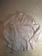ORVIS WOMENS Button Up BLOUSE SHIRT Size 8 Longsleeve Taupe Ked