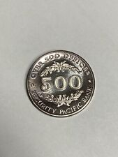 Security Pacific Bank 500 Offices .999 Fine Silver Round
