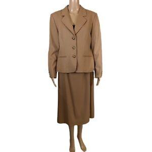 VTG PENDLETON 2 Piece 100% Wool Suit Set Jacket & Midi Skirt Size Medium