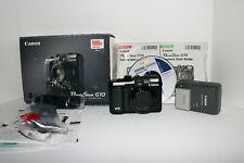 Canon PowerShot G10 14.7MP Digital Camera Original Box & Manuals Near Mint