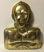 Vintage Star Wars Kenner 1983 C3-PO Action Figure Case w/ 5 Inner Strap Bars