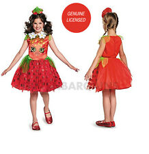 Shopkins Strawberry Kiss Girls Costume 4-6y Birthday Christmas Party Dress Frock