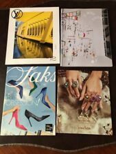 LOT of 13 FASHION CATALOGS HERMES, SAKS, BLOOMINGDALE'S, LOUIS VUITTON & more