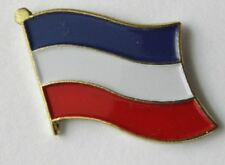 YUGOSLAVIA FLAG LAPEL PIN BADGE 1 INCH