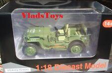 American Diorama 1/18 Scale USA Army Jeep Vehicle WWII US Army (Green) AD-77404