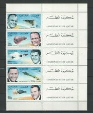 Qatar 1966 Space American Astronauts Revalued set New Currency MNH Stamps