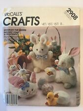 McCalls Craft 2908 Easter set, Spring bunny basket chick egg  - New & Uncut