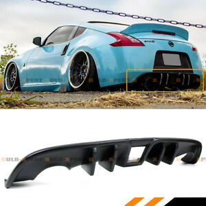For 2009-2019 Nissan 370Z Z34 JDM Vortex Shark Fin Rear Bumper Diffuser Valance