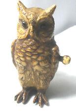 Wind-UP OWL celluloid TAPE MEASURE, FIGURAL RaRe Original Antique c1890