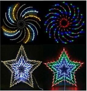 LED STAR SILHOUETTE WINDOW COPPER SPINNER FLASHING CHASER MULTI XMAS CHRISTMAS