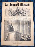 La Une Du Journal Le Journal Illustré 14 Février 1875 L'Amendement Wallon