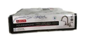 Delta Foundations 4 in. Centerset 2-Handle Hi-Arc Bathroom Faucet Brushed Nickel