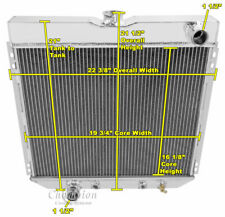 1967-1970 Ford Mustang Polished Aluminum 3 Row Champion Radiator, Straight 6