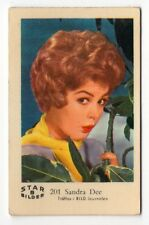 1960s Swedish Film Star Card Star Bilder B #201 US American actress Sandra Dee