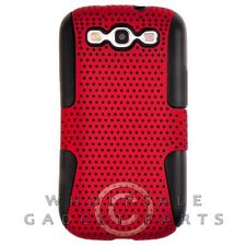 Samsung i9300 Galaxy S3 Hybrid Mesh Case Red/Black Cover Shell Protector Guard