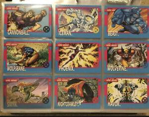 1992 Marvel X-Men Series 1 Trading Cards COMPLETE BASE SET, #1-100 Jim Lee Impel