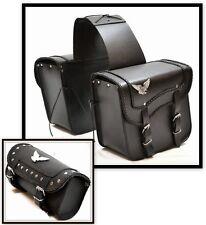 LOTE alforja lateral + para horquilla de piel modelo Águila moto custom