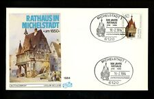 Postal History Germany Fdc #1412 Michelstadt Town Hall 1984