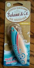 Bahama & Co Scented Wood Surfboard AUTO Air Freshener Pina Colada Hang Ten (: