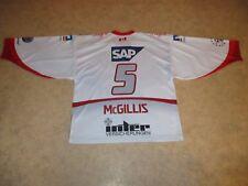 """Adler Mannheim icegear Eishockey Trikot 2008/09 """"MVV"""" + Nr.5 McGillis Gr.XL- XXL"""