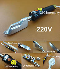 220V Leather Craft Wrinkle Smoothing Adjustable Temperature Electric Iron Tool
