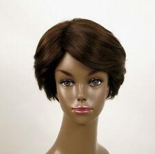 Perruque afro femme 100% cheveux naturel châtain ref WHIT 04/6